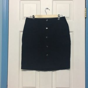 Old Navy Short black Button down skirt